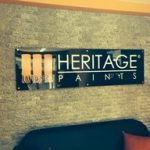 heritage paint dunlop reception signage
