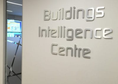 Brushed Aluminium cut out lettering